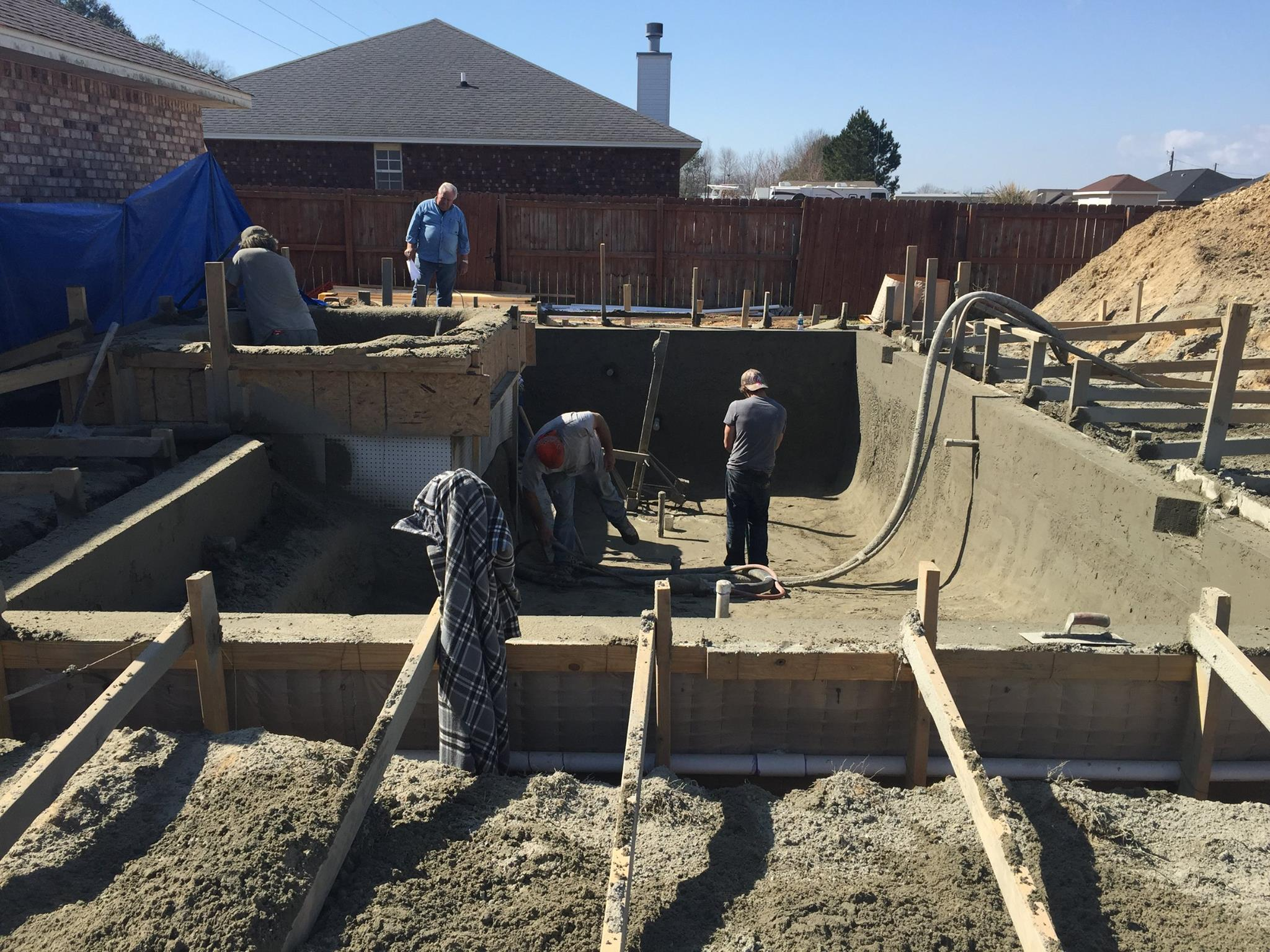 The Process For Creating a Gunite Shell
